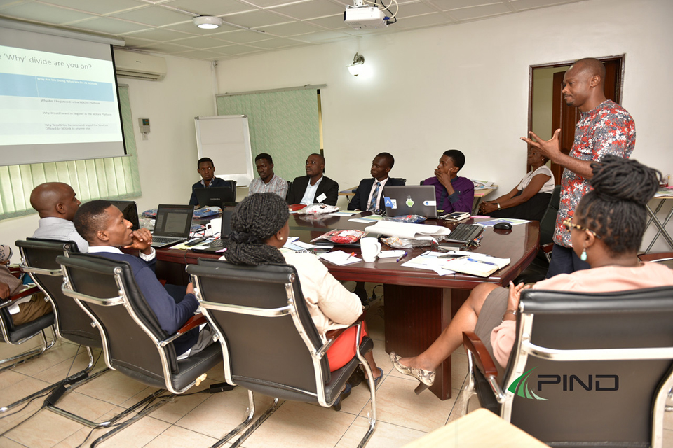 Cross section of the session in progress-
